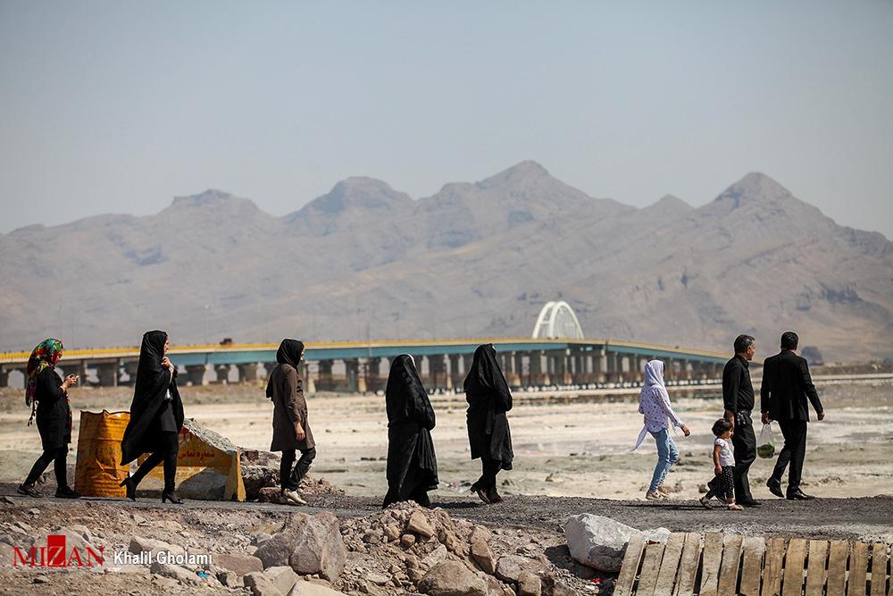 گزارش تصویری از وضعیت فعلی دریاچه ارومیه