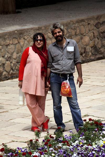 سلمان فرخنده و همسرش