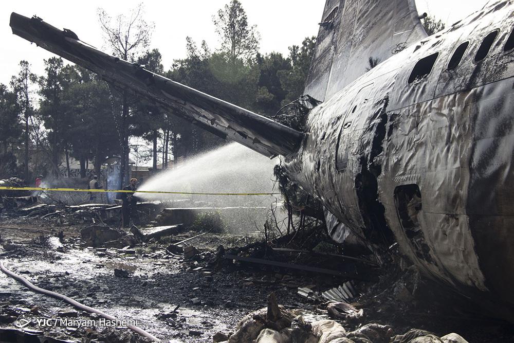 گزارش تصویری از سقوط هواپیمای بوئینگ 707