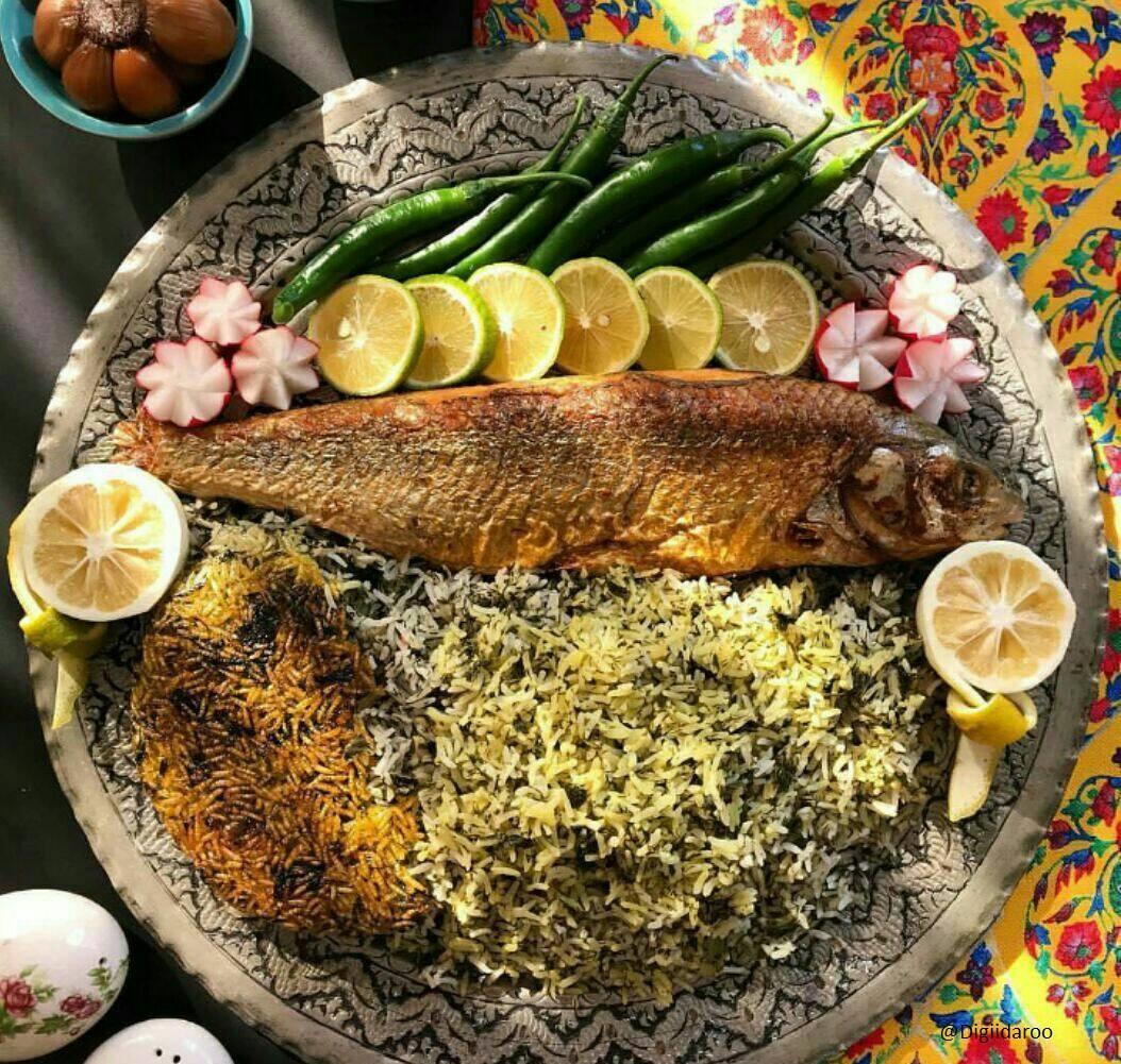 طرز تهیه سبزی پلو ماهی شب عید