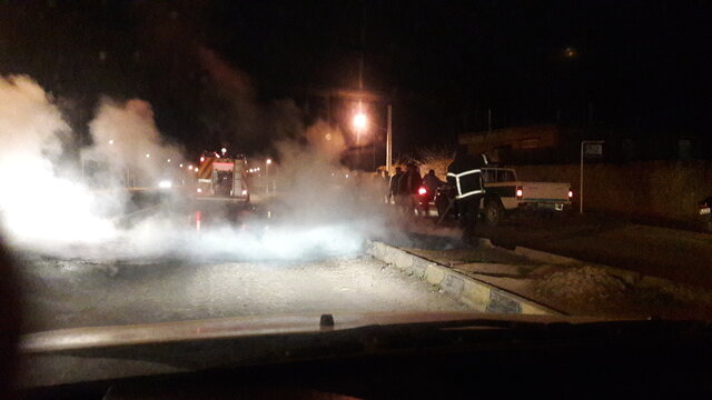 ضرب و شتم شدید مامور آتشنشانی در عملیات اطفای حریق