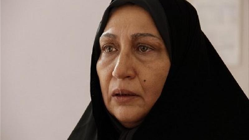 فریبا جدی کار،بازیگر نقش اعظم، همسر جعفر در سریال زیر تیغ