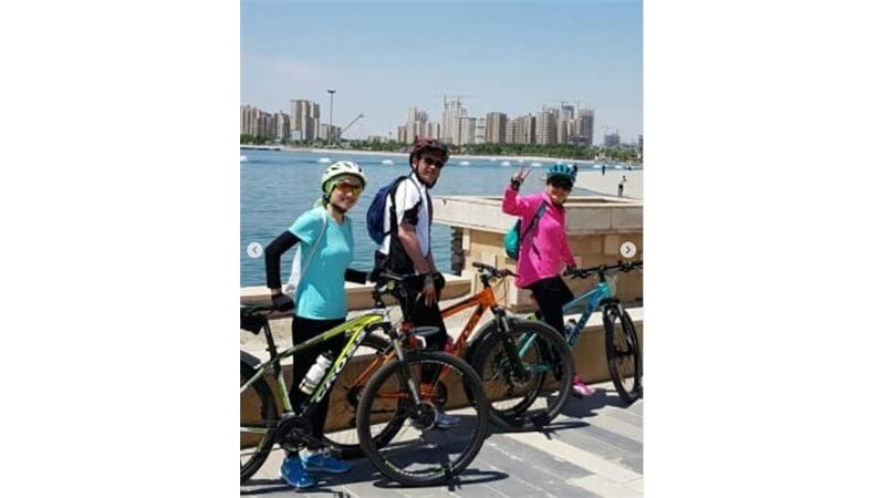 عکسهای دوچرخهسواری آناهیتا همتی