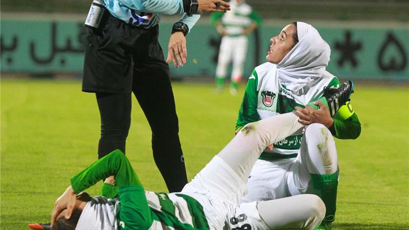 عکسهای کتککاری در فوتبال زنان ایران