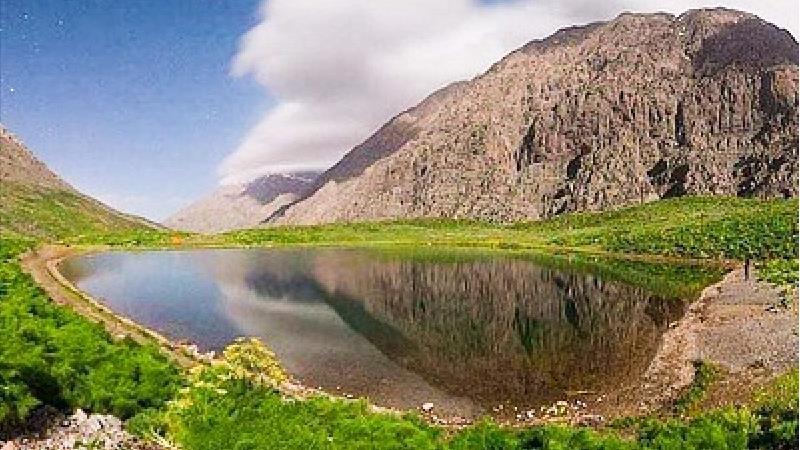 از زیبایی های دریاچه کوه گل یاسوج لذت ببرید
