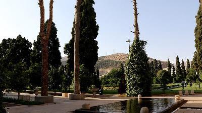 باغ جهاننما که در زمان آل مظفر ساخته شده