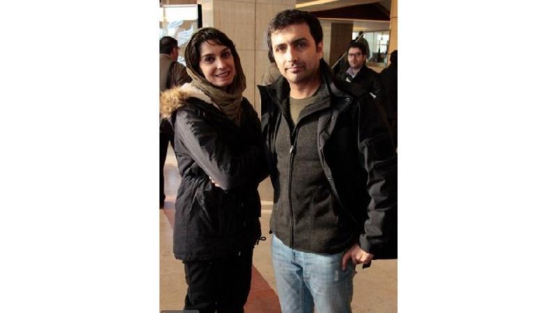 الیکا عبد الرزاقی در کنار همسرش امین زندگانی