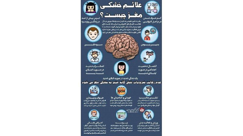 علایم خشکی مغز چیست