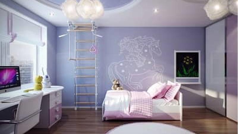 از رنگ بنفش برای اتاق کودک استفاده کنید