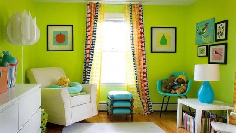 اتاق کودک خود را سبز کنید