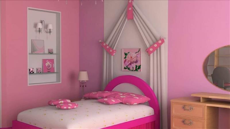 صورتی رنگ مناسب برای اتاق دختران است