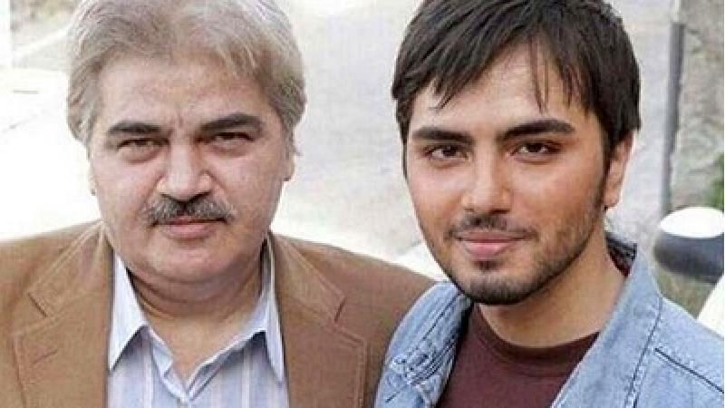 علی طباطبایی بازیگر نقش فرهاد در سریال آشپزباشی در کنار پدرش