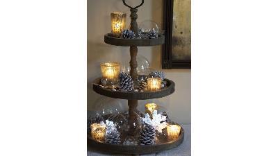 استفاده از شمع در دکوراسیون زمستانی