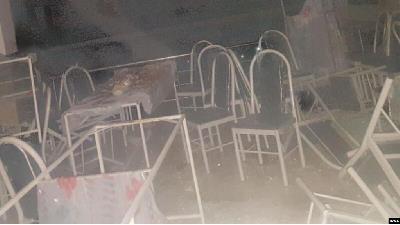 عکسی از تالار عروسی سقز بعد از آتش سوزی