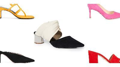 کفش پاشنه بلند برای زنان لاغر مناسب است
