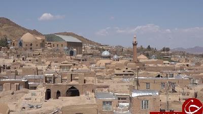 نمایی از شهر ندوشن در استان یزد