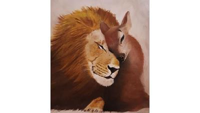یک نقاشی از مهشید جوادی