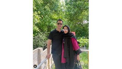 محیا اسناوندی در کنار همسرش