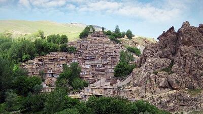 روستای قوزلو یکی از دیدنی های ماهنشان زنجان است
