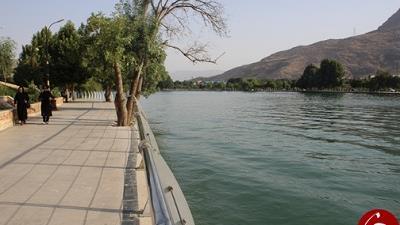 دریاچه کیو در شهر خرم آباد استان لرستان واقع شده است