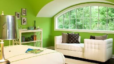 اتاق خواب را سبز روشن کنید