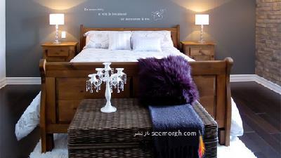 برای دکوراسیون اتاق خواب از رنگ خاکستری آبی استفاده کنید