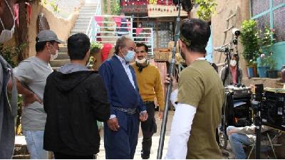 عکسی از پشت صحنه سریال نون-خ