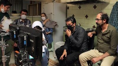عکسی از پشت صحنه سریال نجلا