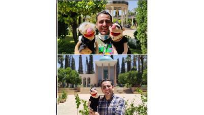 محمد لقمانیان و عروسک لقمه