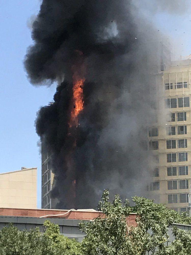 فیلم/ آتشسوزی هتل در مشهد