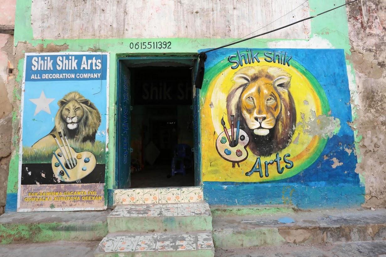 نقاشی، رمز جذب مشتری در موگادیشو
