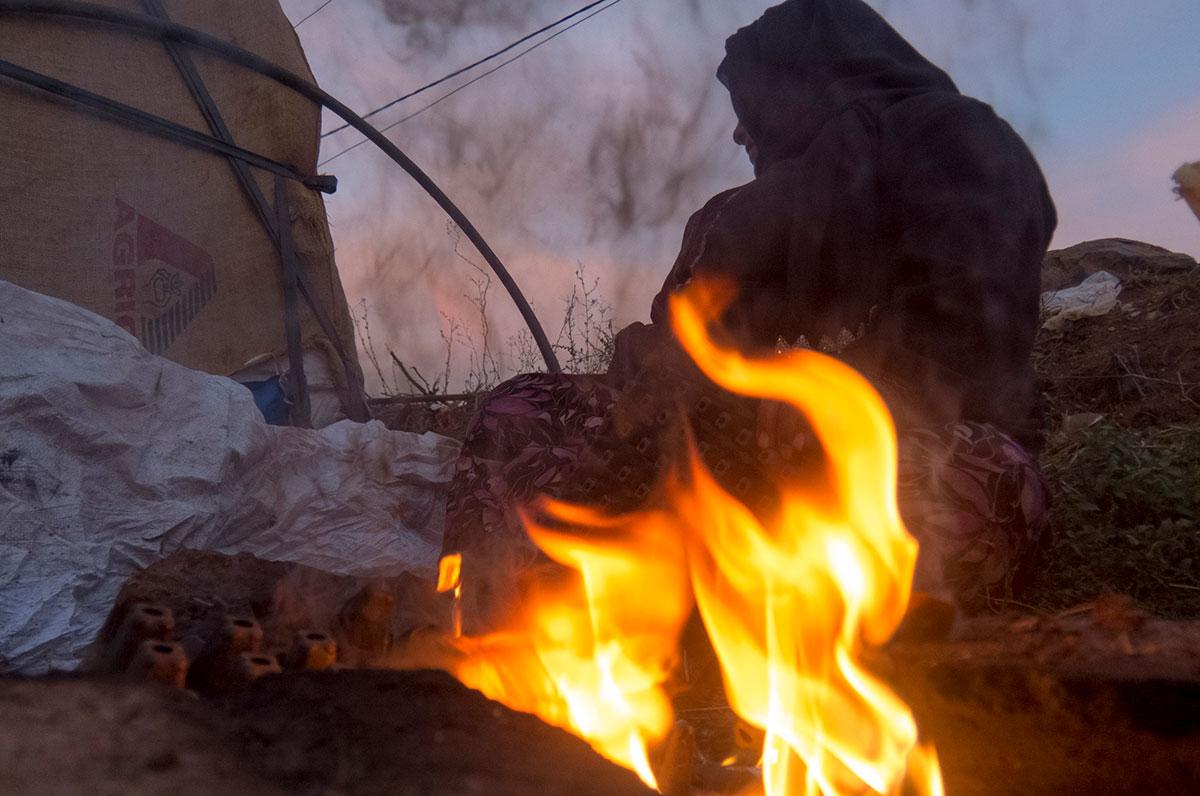 عکاس  کمبینا که اردوگاه پناهجویان را ثبت کرد
