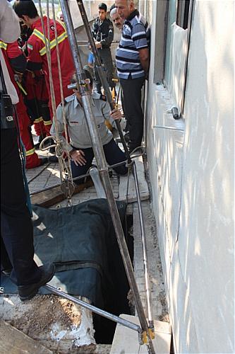 گزارش تصویری از سقوط مرگبار پسر 19 ساله به چاه
