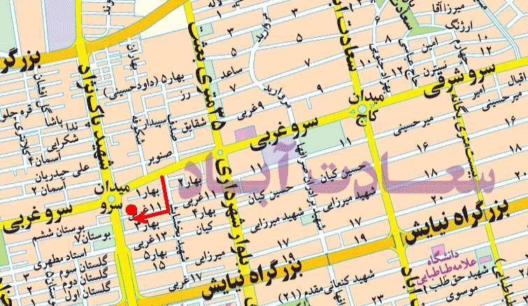 سعادتآباد ؛ کلکسیون برندها و رستورانهای بدون پارکینگ