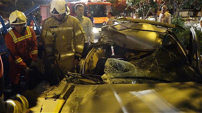 گزارش تصویری از تصادف مرگبار در بزرگراه شهید همت