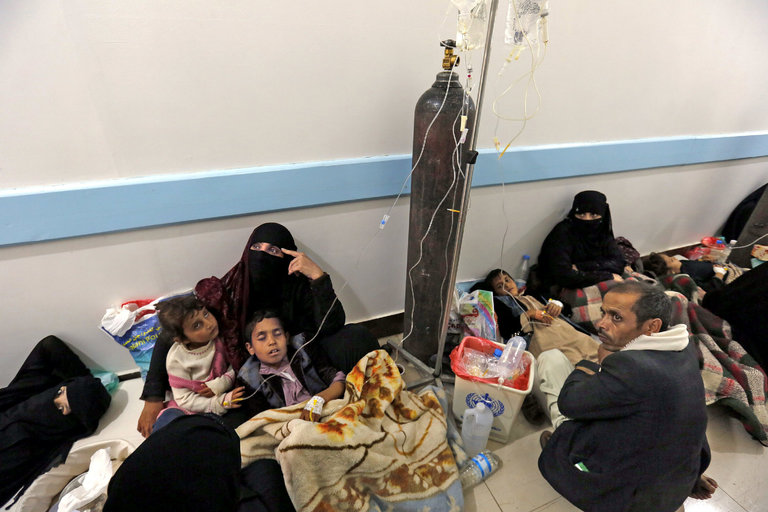 از هر 120 یمنی یک نفر مبتلا به وباست
