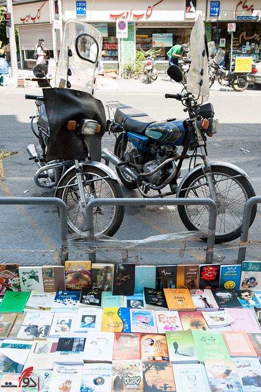 گزارش تصویری از دستفروشان کتاب