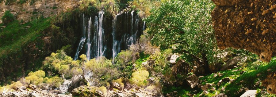 فیلمی از بزرگترین آبشار طبیعی خاورمیانه در دزفول