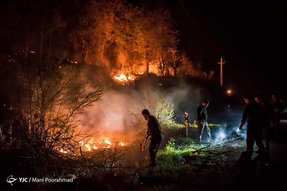 گزارش تصویری از آتشٔسوزی جنگلهای شرق گیلان