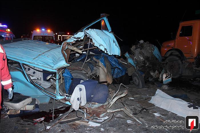 گزارش تصویری/ 4 کشته و 10 زخمی در این تصادف زنجیرهای
