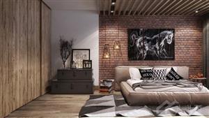خانه زیبا با استیکرهای دیواری