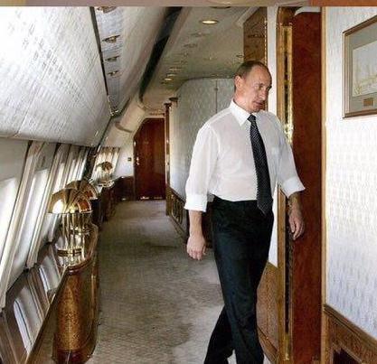 تصاویری از داخل جت اختصاصی پوتین