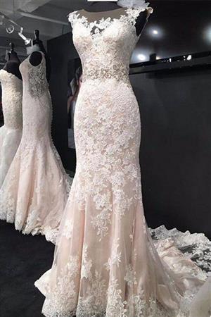 لباس عروس مدل ماهی مناسب برای دخترهای خوش هیکل