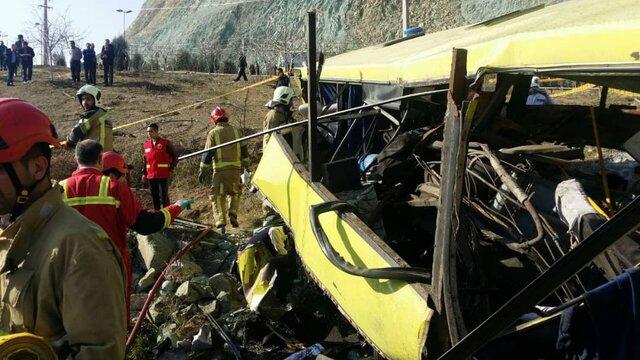 فیلمی از تصادف مرگبار اتوبوس حامل دانشجویان دانشگاه آزاد واحد علوم و تحقیقات