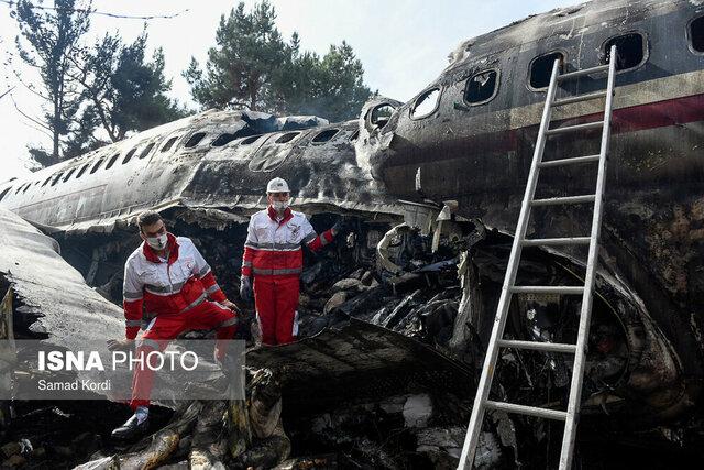 فیلمی از سقوط هواپیمای بوئینگ
