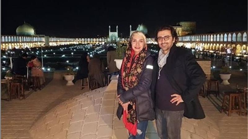 عکسی زیبا از الیکا عبدالرزاقی و همسرش امین زندگانی