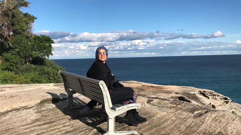 عکس پانته آ بهرام در ساحل استرالیا