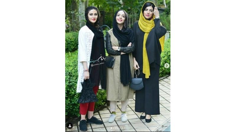 سه سلبریتی تازه به شهرت رسیده در یک عکس؛ المیرا دهقانی، مریم مومن و هلیا امامی