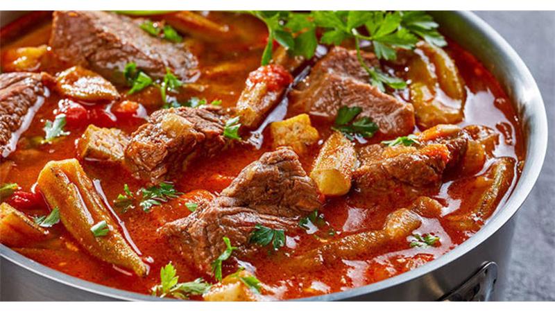 آشپزی/ دستور پخت کامل خورش بامیه