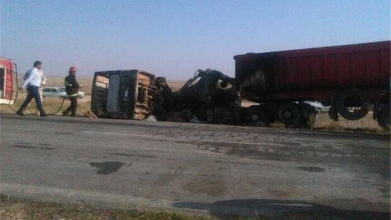 ۱۲ کشته و ۱۸ مصدوم در تصادف مینیبوس و تریلی در اینچه برون
